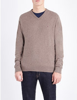 Tommy Hilfiger V-neck cotton and cashmere-blend jumper