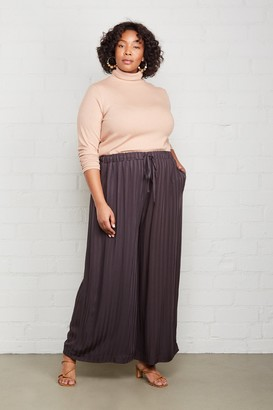 White Label Shadow Stripe Lyric Pant - Faded Black, Plus Size