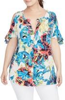 Rachel Roy Plus Size Women's Vanessa Cold Shoulder Top