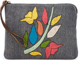 Patricia Nash Floral Embroidery Cassini Wristlet