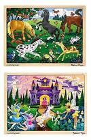Melissa & Doug ; Deluxe Wooden 48- Piece Jigsaw Puzzle Bundle - Castle/Ho...