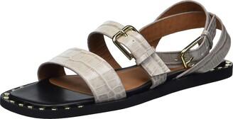 Emporio Armani Women's Ankle Strap Flat Studded Sandal