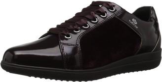 Geox Women's Nihal 7 Velvet & Patent Fashion Sneaker