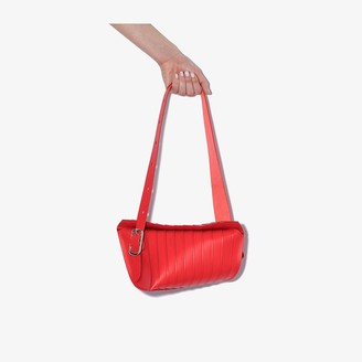 Venczel Red Aera S Stripe Leather Shoulder Bag