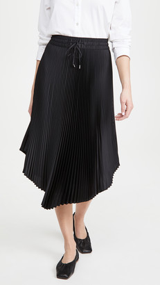 Club Monaco Pleated Scoop Hem Skirt