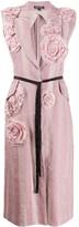Ann Demeulemeester embroidered flower sleeveless coat