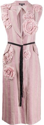 Ann Demeulemeester Embroidered Flower Sleeveless Coat