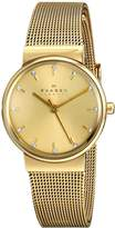 Skagen Women's SKW2196 Ancher -Tone Stainless Steel Watch with Crystal Markers