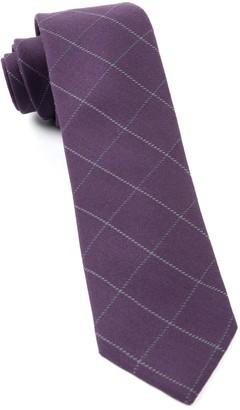 The Tie BarThe Tie Bar Eggplant Goalpost Pane Tie
