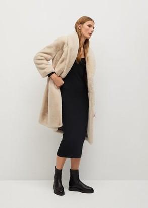 MANGO Fluffy long coat
