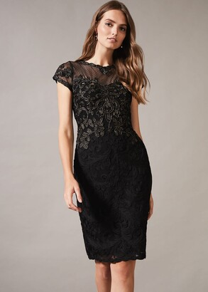 Phase Eight Zandra Tapework Lace Dress