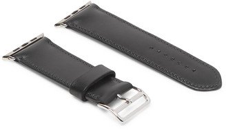 George Cleverley Leather Watch Strap - Men - Black