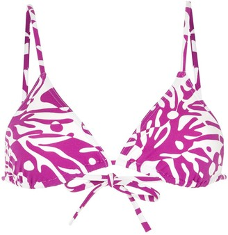 Eres Abstract-Print Triangle Bikini Top