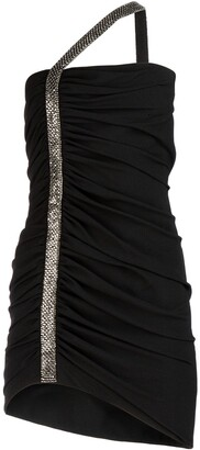Saint Laurent Embellished Crepe Dress
