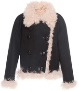 Isabel Marant Belia Shearling Wool-Blend Coat