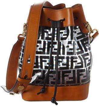 Fendi Mon Tresor Pvc & Leather Bucket Bag