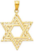Macy's 14k Gold Charm, Cut-Out Star of David Charm