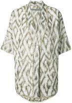 Raquel Allegra printed shortsleeved jacket - women - Cotton - 1
