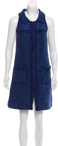 Chanel Sleeveless Bouclé Dress