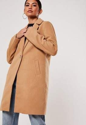 Missguided Tall Camel Formal Coat