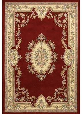 Wenger Astoria Grand Hand-Tufted Wool Red/Beige Area Rug Astoria Grand Rug Size: Rectangle 2' x 3'