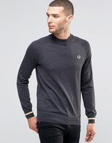 Fred Perry Laurel Wreath Jumper Turtleneck Tipped Cuff