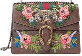 Gucci Dionysus Medium Owl-Embroidered Shoulder Bag, Gray/Multi