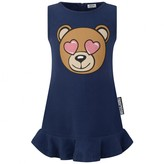 Moschino Girls Navy Sleevelees Teddy Head Dress