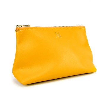 Village Leathers Roam Leather Zip Pouch - Yellow