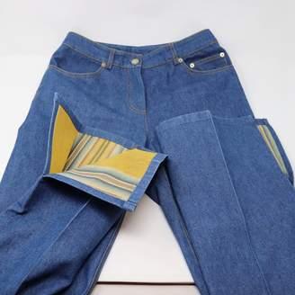 John Galliano Blue Cotton Jeans for Women
