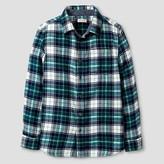 Cat & Jack Boys' Long Sleeve Button Down Flannel Shirt Cat & Jack - Springtime Green
