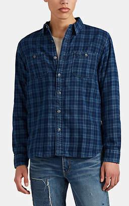 Ralph Lauren RRL Men's Plaid Cotton Shirt - Blue
