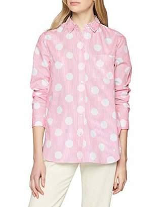 Brax Women's Victoria Cotton Stripes Gepunktete Bluse Mit Brusttasche Blouse, (Pink 47), (Size: 40)