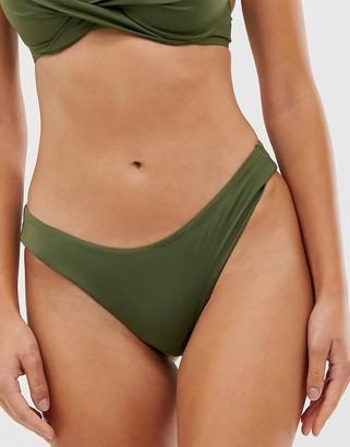 Dorina mix and match high leg brazilian bikini bottom in khaki