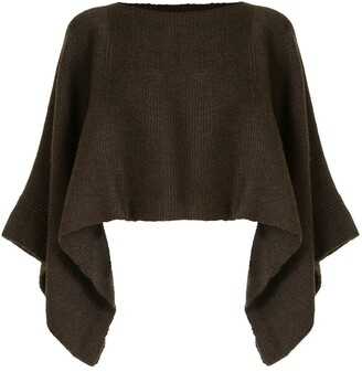 Voz Solid knit cropped top