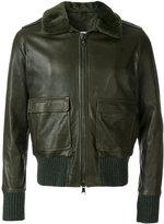 Giorgio Brato aviator leather jacket