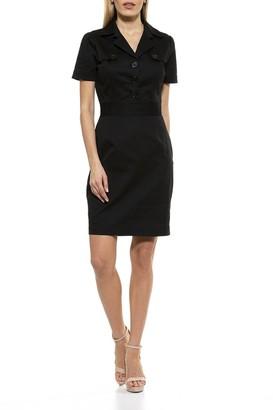 Alexia Admor Kayden Short Sleeve Trench Dress