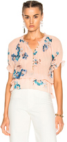 Ulla Johnson Lola Blouse in Pink,Floral,Neutrals.