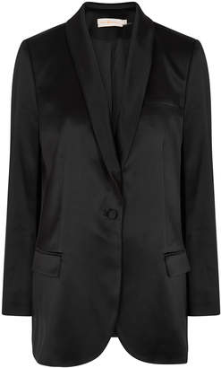 Tory Burch Black Satin Blazer