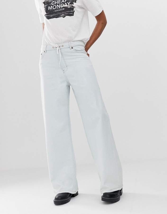 Cheap Monday organic cotton wide leg trouser jeans