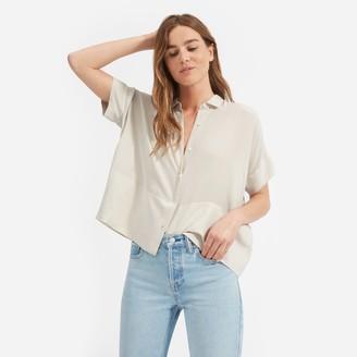 Everlane The Clean Silk Short-Sleeve Square Shirt