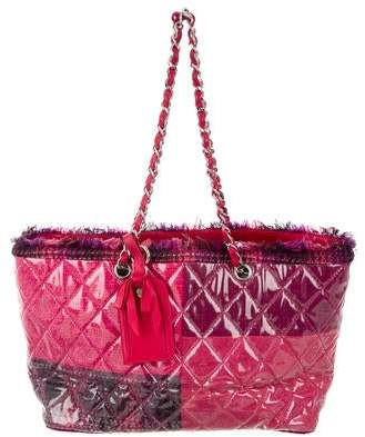 Chanel Funny Tweed Patchwork Tote