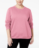 Karen Scott Plus Size Fleece Sweatshirt, Only at Macy's