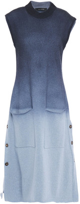 Cédric Charlier Degrade Wool-blend Midi Dress