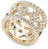 Ivanka Trump 10K Goldplated White Metal Pave Open Band Ring
