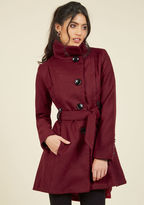 Steve Madden Winterberry Tart Coat in Burgundy in 3X