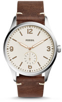 Fossil Vintage 54 Two-Hand Sub-Second Dark Brown Leather Watch