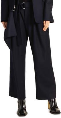 Proenza Schouler Paperbag-Waist Plaid Flannel Suiting