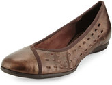 Sesto Meucci Aura Lasercut Leather Flat, T Moro
