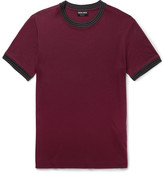Giorgio Armani Knit-Trimmed Jersey T-Shirt